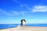 石川県 夏の見附島 軍艦島