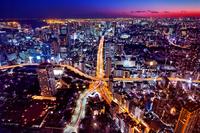 東京都 東京タワー特別展望台より地上の東京タワー