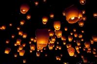 台湾 十分 天燈祭り