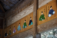 山口県 松尾神社 拝殿 三十六歌仙の絵馬