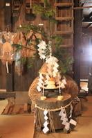 秋田県 米どころの民家の正月飾り