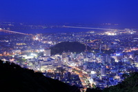 眉山から徳島市街の夜景