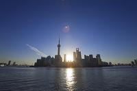 中国 上海 浦東の夜明け