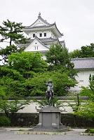 岐阜県 史跡 大垣城と戸田氏鉄騎馬像