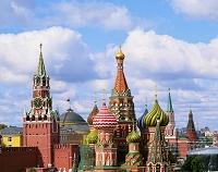 ロシア 聖ワシリー聖堂とクレムリン