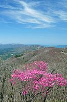 三重県 アカヤシオ咲く御在所岳と鈴鹿山脈北部の山々