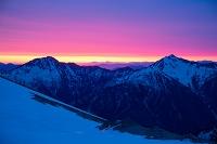 富山県 北アルプス 別山より鹿島槍ヶ岳と五竜岳