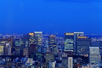 都庁から高層ビル群 夕景