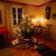 インテリア クリスマスツリーのある部屋