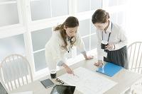 オフィス仕事をする20代日本人女性