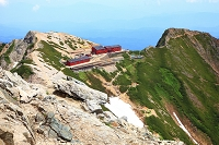 長野・富山県境 唐松岳頂上からの眺め 唐松岳頂上山荘