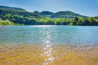 栃木県 奥日光 湯ノ湖と太陽