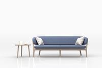 ブルーのソファとサイドテーブル 3DCG