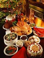 ローストターキーとクリスマス料理