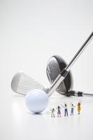 フィギュア ゴルフを応援する観客