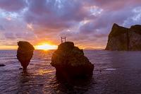 北海道 えびす岩と大黒岩