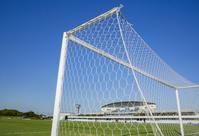 グランドのサッカーゴール