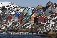 グリーンランド カラフルな町並み