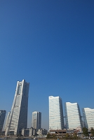 神奈川県 横浜 ランドマークタワーとクイーンズスクエア みな...