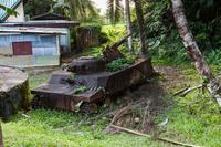 パラオ コロール島 戦車の残骸