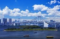 東京都 お台場より屋形船とレイボーブリッジ