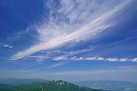 三重県 国見岳から鈴鹿山脈北部の山々と雲
