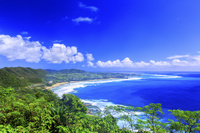 鹿児島県 明神崎より土浜海岸を望む 奄美大島