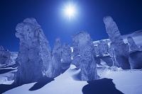 山形県 蔵王の樹氷と太陽