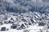 岐阜県 冬の白川郷合掌造り集落