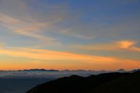 長野県 八ヶ岳連峰 富士山 甲斐駒ケ岳朝焼け
