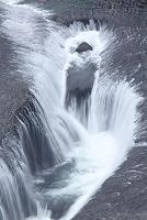 群馬県の吹き割りの滝
