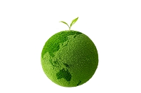 緑の地球に咲く若葉