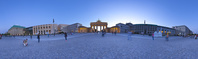 ドイツ ベルリン パリ広場とブランデンブルク門