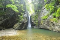 山梨県 一之釜・男滝と新緑