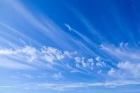 巻雲流れる青空