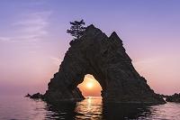 鳥取県 浦富海岸 千貫松島の夕日