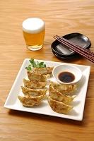 餃子とビール(発泡酒)