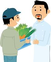 レストランへ野菜を直接納品する農家