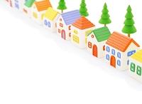粘土の家と街路樹