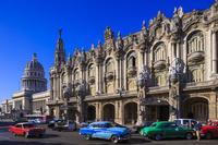 キューバ ハバナ ガルシア・ロルカ劇場と旧国会議事堂(カピト...