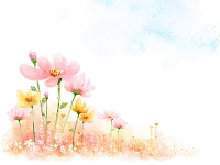 黄色とピンクの花