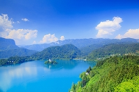 スロベニア ブレッド湖 ブレッド城より