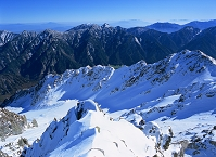 富山県 立山町 雄山山頂より後立山