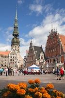 ラトビア リガ市庁舎広場