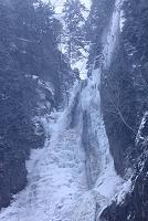 北海道 冬の銀河の滝