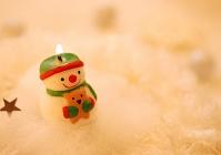 雪だるまのクリスマスキャンドル