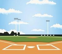 スポーツイラスト 野球場