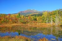 長野県 乗鞍高原どじょう池と乗鞍岳