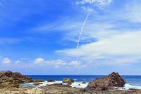 鹿児島県 枕状溶岩 田代海岸よりH-ⅡAロケット39号機打ち上げ ...