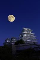 兵庫県 姫路城 月
